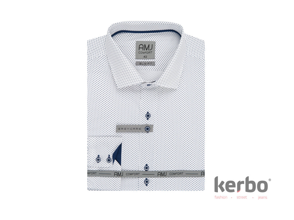 AMJ KOšILE Košile společenská slim fit AMJ KOšILE VDSBR Slim 955 - AMJ  KOšILE - VDSBR 955 S fc30479b77