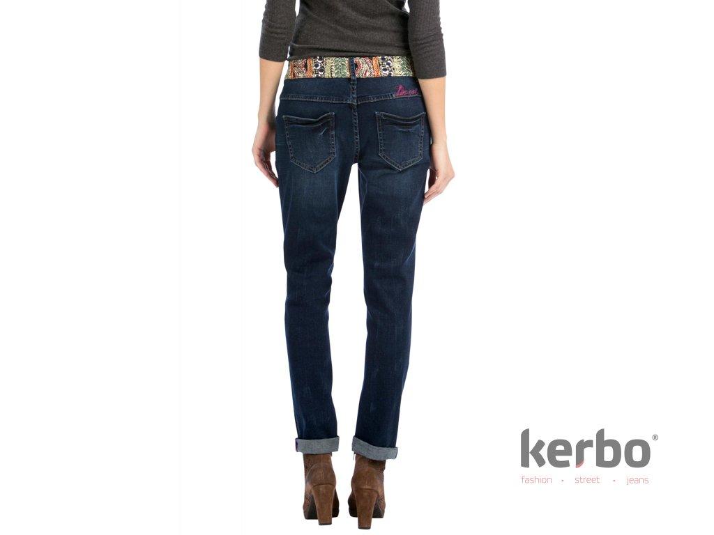 Dámské jeans DESIGUAL DENIM MEDIUM WASH DENIM BOYFRIEND ETHNIC - DESIGUAL -  57D26A4 5053 DENIM MEDIUM e87869d6f6