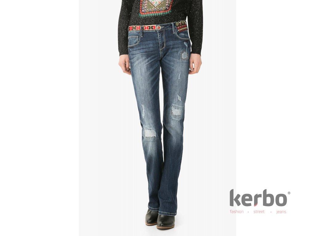 DESIGUAL Dámské jeans DESIGUAL NAI - DESIGUAL - 67D26D2 5008 DENIM NAI a6246b47036