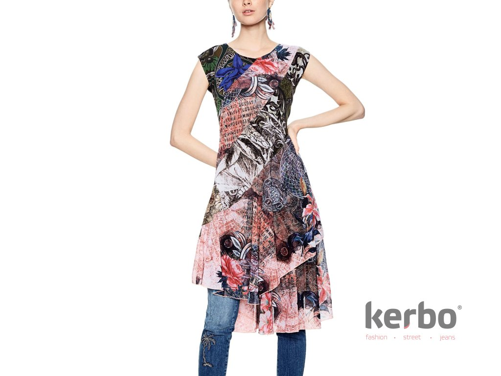 DESIGUAL Dámské šaty DESIGUAL MY SWEETHEART - DESIGUAL - 18SWVKBQ 5000  VEST MY SWEETHEART 5c4d758ec33