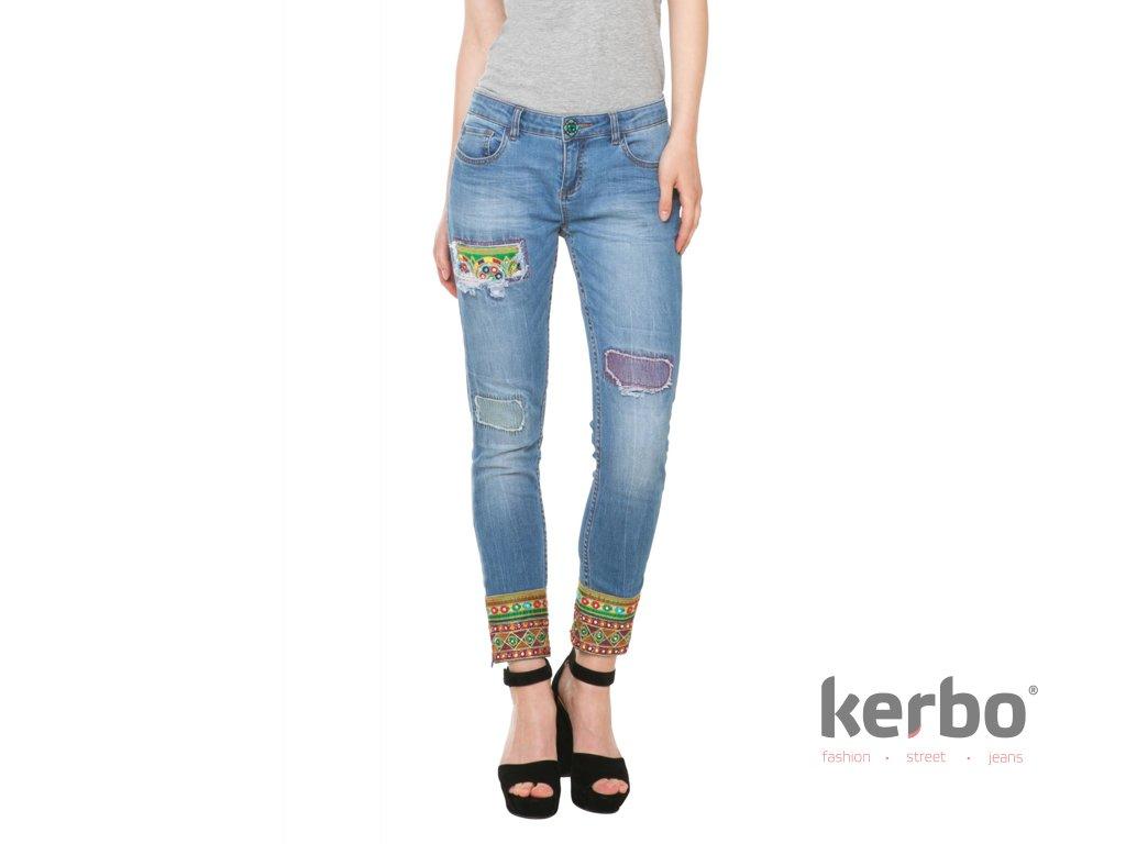 DESIGUAL Dámské jeans DESIGUAL DENIM ETHNIC - DESIGUAL - 61D26E9 5053  DENIM ETHNIC f9216f816a1