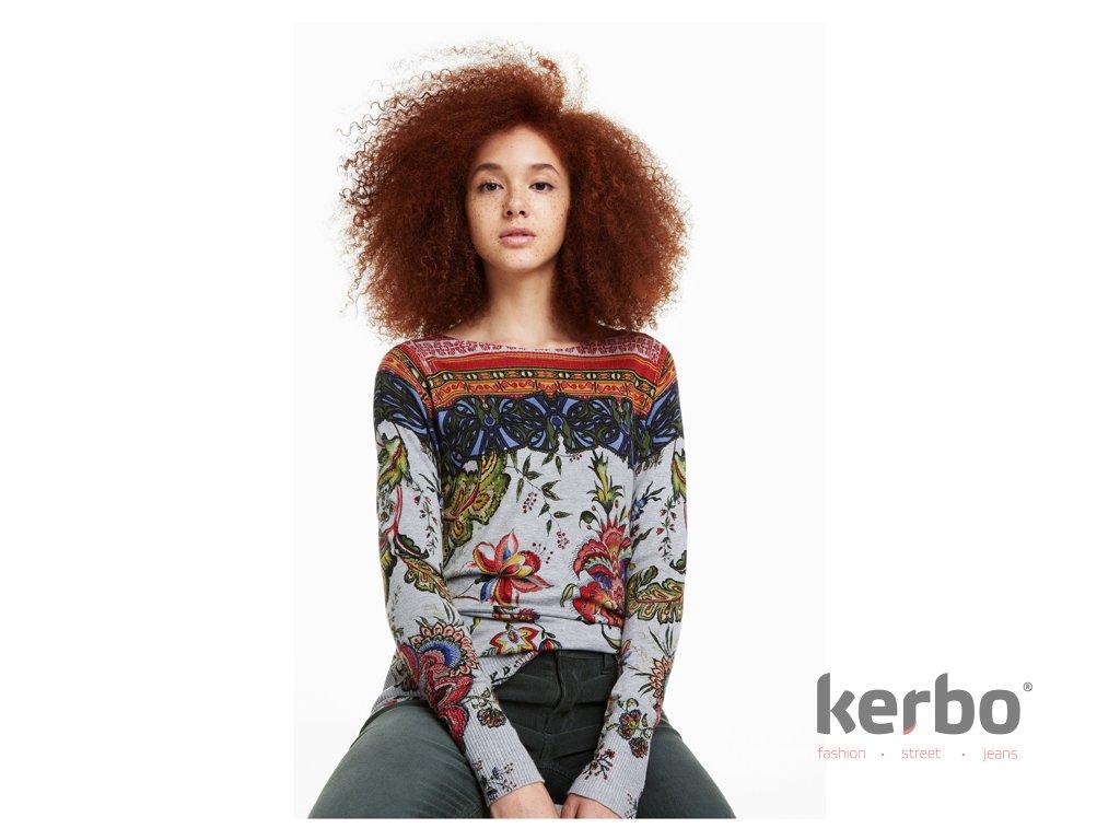 1a4e985611d Dámský svetr DESIGUAL CHINTZ - Kerbo.cz módní oblečení pro každý den