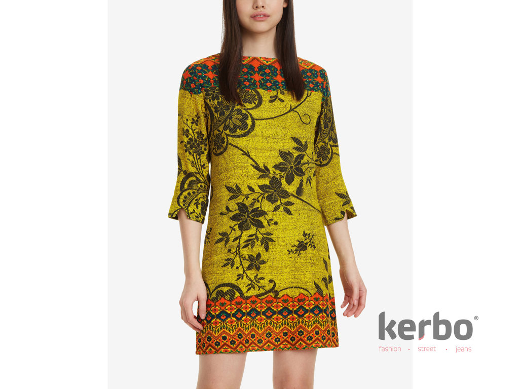 DESIGUAL Dámské šaty DESIGUAL ASTRID - DESIGUAL - 19SWVW66 8053 VEST ASTRID 7537af8ee76
