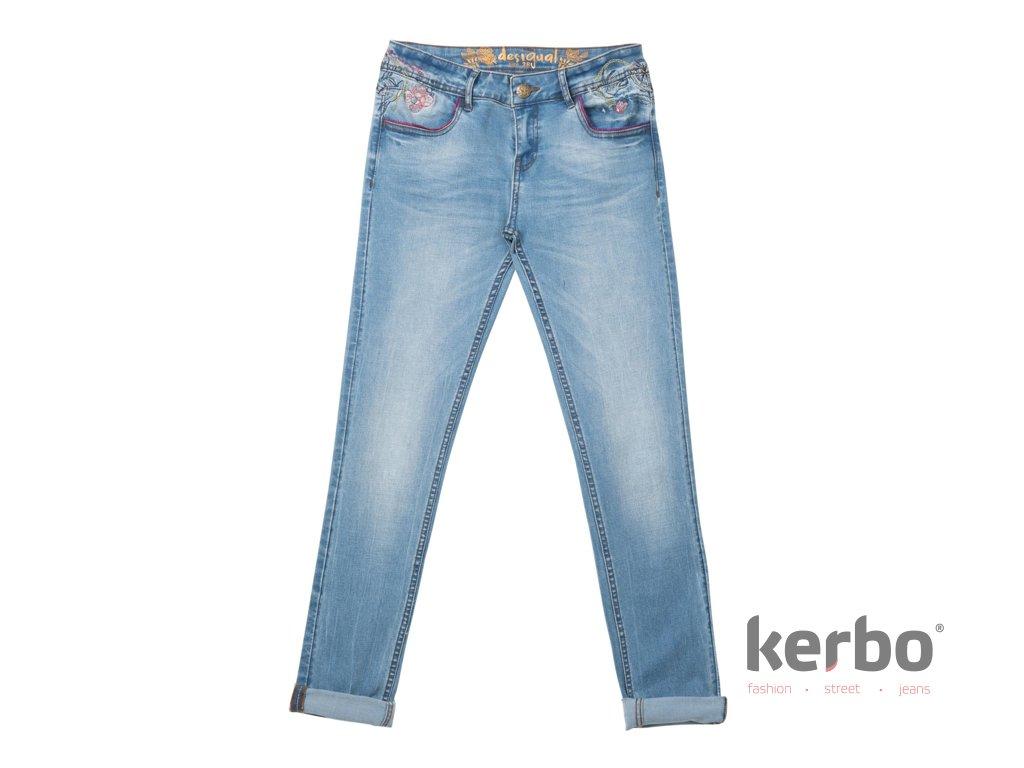 Dámské jeans DESIGUAL MAITÉ - Kerbo.cz módní oblečení pro každý den 144b23a57a7