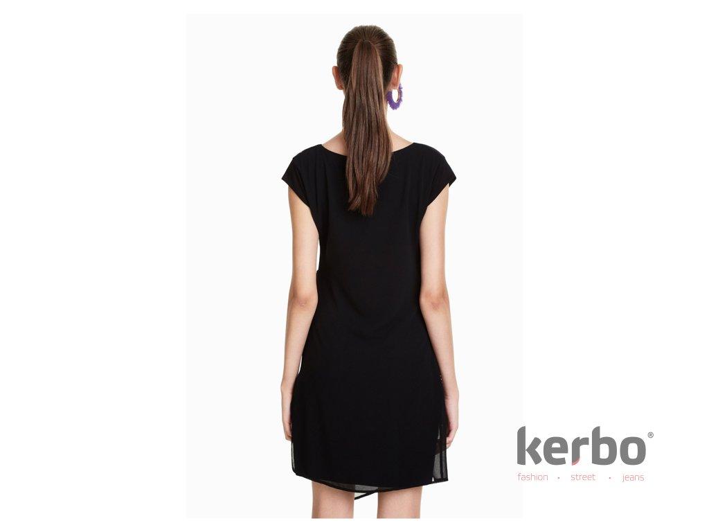 Dámské šaty DESIGUAL SANDRINI - DESIGUAL - 18WWVW33 2000 VEST SANDRINI 4bba3948691