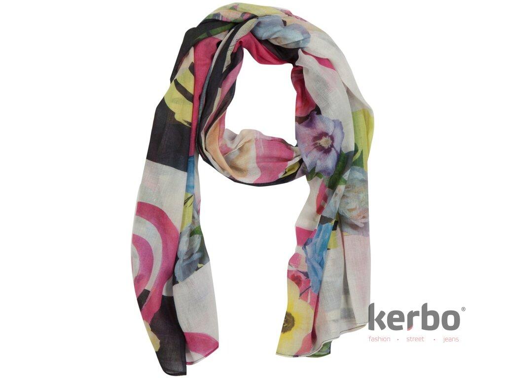 d58869b82aa DESIGUAL Dámský šátek DESIGUAL FLOWERS - DESIGUAL - 41W5729 2000  PANU FLOWERS AND CHECKS S