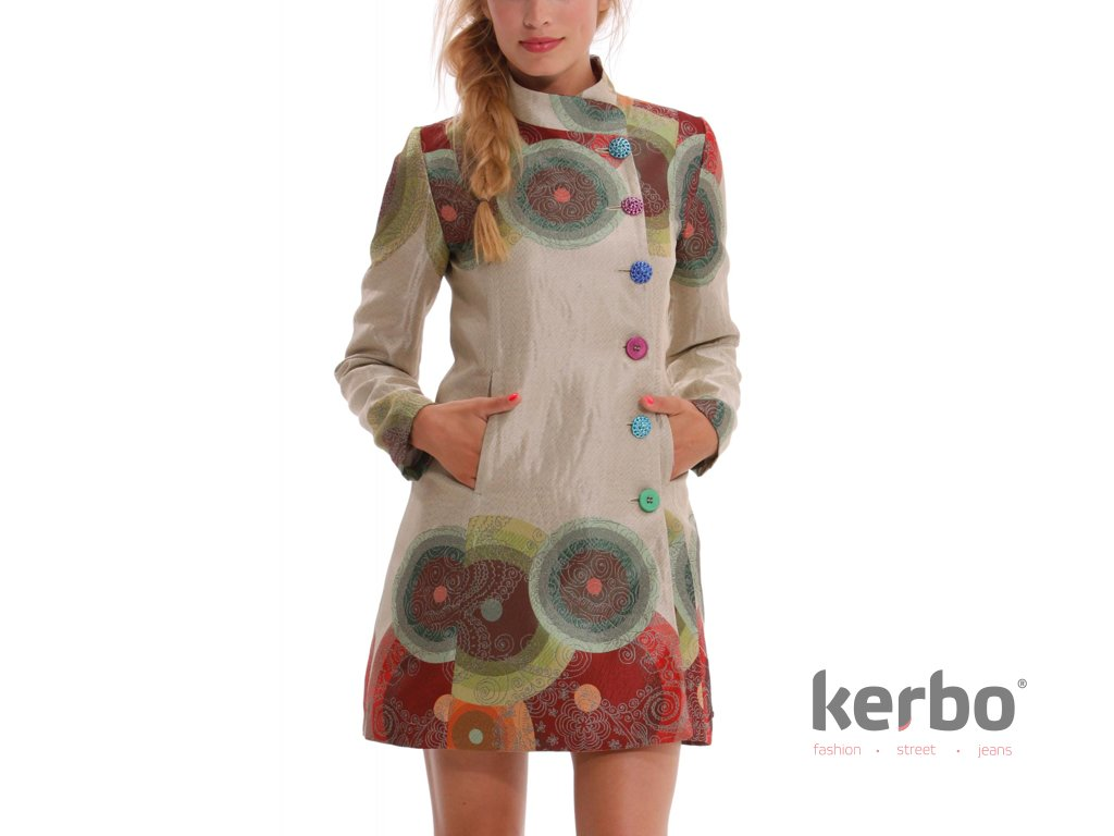 8dff63ee0c Dámský fashion kabát DESIGUAL ABRIG COLORFUL - DESIGUAL - 42E2977 1004  ABRIG_COLORFUL CIR
