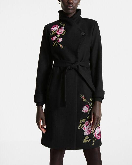 Dámský zimní kabát DESIGUAL JENSEN BLACK XL
