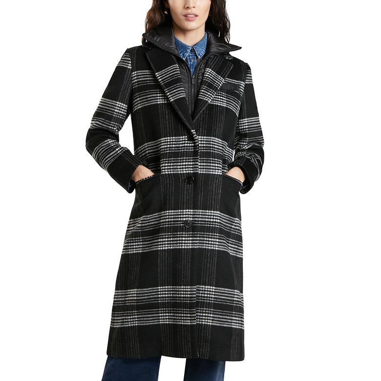 Dámský zimní kabát DESIGUAL AGATHA CHRISTIE ANTRACITA L