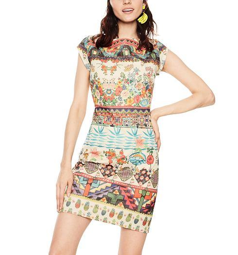 b993de495b0 DESIGUAL Dámské šaty DESIGUAL ELVIRA - DESIGUAL - 18SWVKA1 1000 VEST ELVIRA
