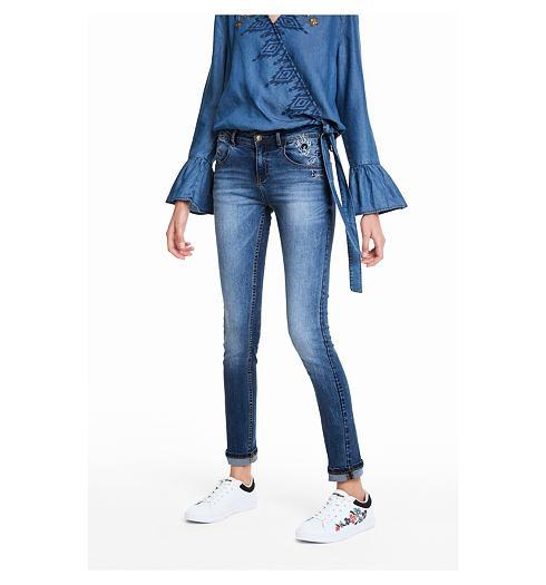 DESIGUAL Dámské jeans DESIGUAL REFRIPOSAS - DESIGUAL - 18WWDD19 5053  DENIM REFRIPOSAS ee6c1528677