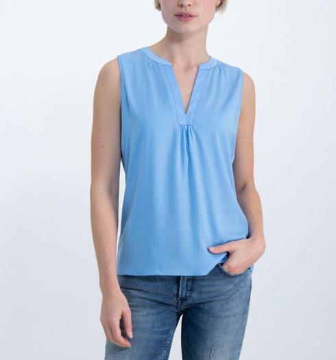 Dámská halenka GARCIA ladies shirt ss 2129 french blue - GARCIA - GS000130 2129 ladies shirt ss