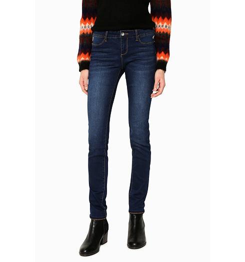 DESIGUAL Dámské jeans DESIGUAL SECOND SKIN - DESIGUAL - 17WWDD16 5161  DENIM SECOND SKIN f4c7ec99d91